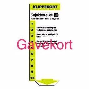 84714ab2a16 Gavekort til klippekort - 10 klip - kajak & SUP