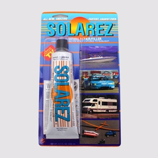SOLAREZ Repair resin All Purpose filler - Hærder på 3 min ved solens UV-stråler